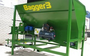 Bagger 3, is a 3 cubic metre, strong sturdy, stand alone, bagging machine.