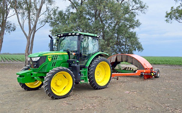 The tractor we are using, a JD6110R.